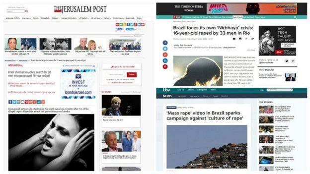 Repercussão do caso na imprensa mundial