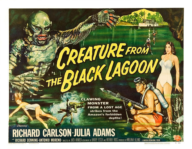 Reynold Brown - Creature From the Black Lagoon (Universal International, 1954) half sheet 1