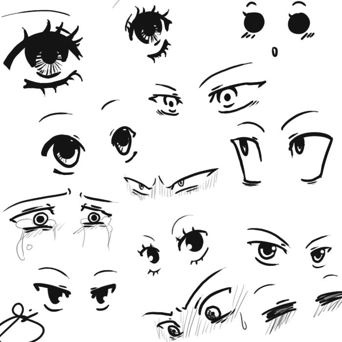 My anime eye styles. by eagle-eyes on DeviantArt