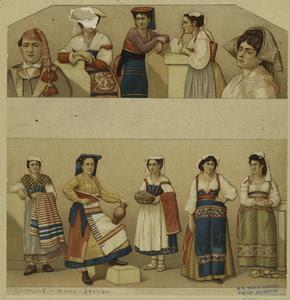 [Italian women and a man in va... Digital ID: 812292. New York Public Library