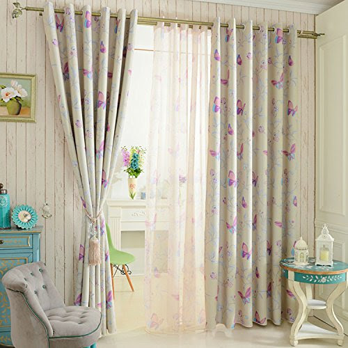 30 x 84 Sheer Curtains Kess InHouse Nic Squirrell Pressed Wildflowers Green Pink Decorative Set