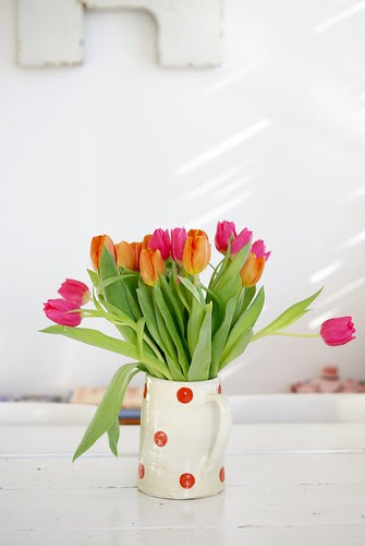 tulips & winner by wood & wool stool