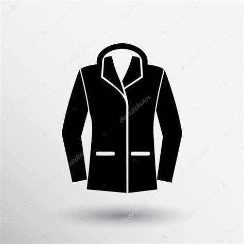 ladies jacket icon symbol design coat logo stock vector