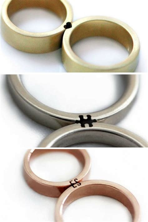 These wedding rings only make sense when you fit them