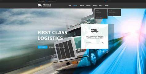 transportation template truck website template gridgum