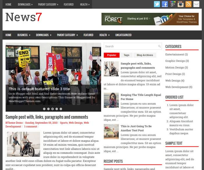 News7 Blogger Template