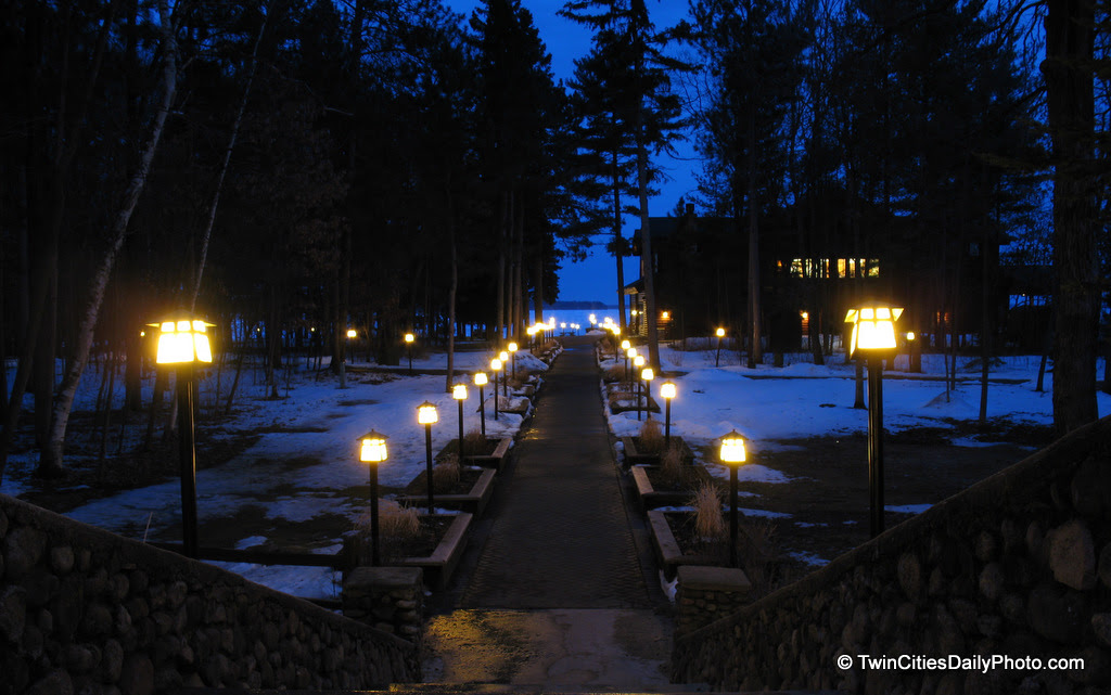 My favorite photo of the year was taken in the spring of 2011 at the Grand View Lodge in Nisswa, MN. This is the view from the back of the main lodge, this path leads down to the frozen lake.