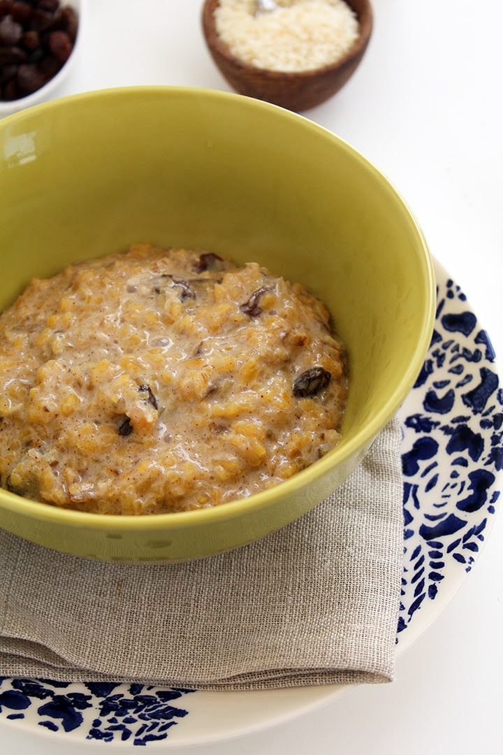 """Coconut Plantain """"Rice"""" Pudding - Inspiralized"""