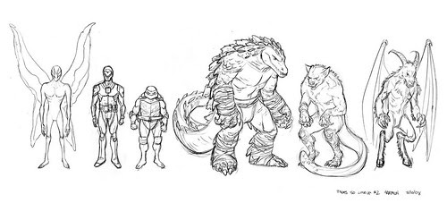 "Character LINE-UP..by Paul Harmon for the upcoming ""Tales of the TMNT"" v2. #50 [[ Via Steve Murphy ]]"