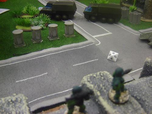 Speeding past anti-armour fire