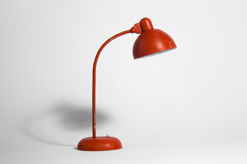 Miniature desk lamp. by Joan Kamberai
