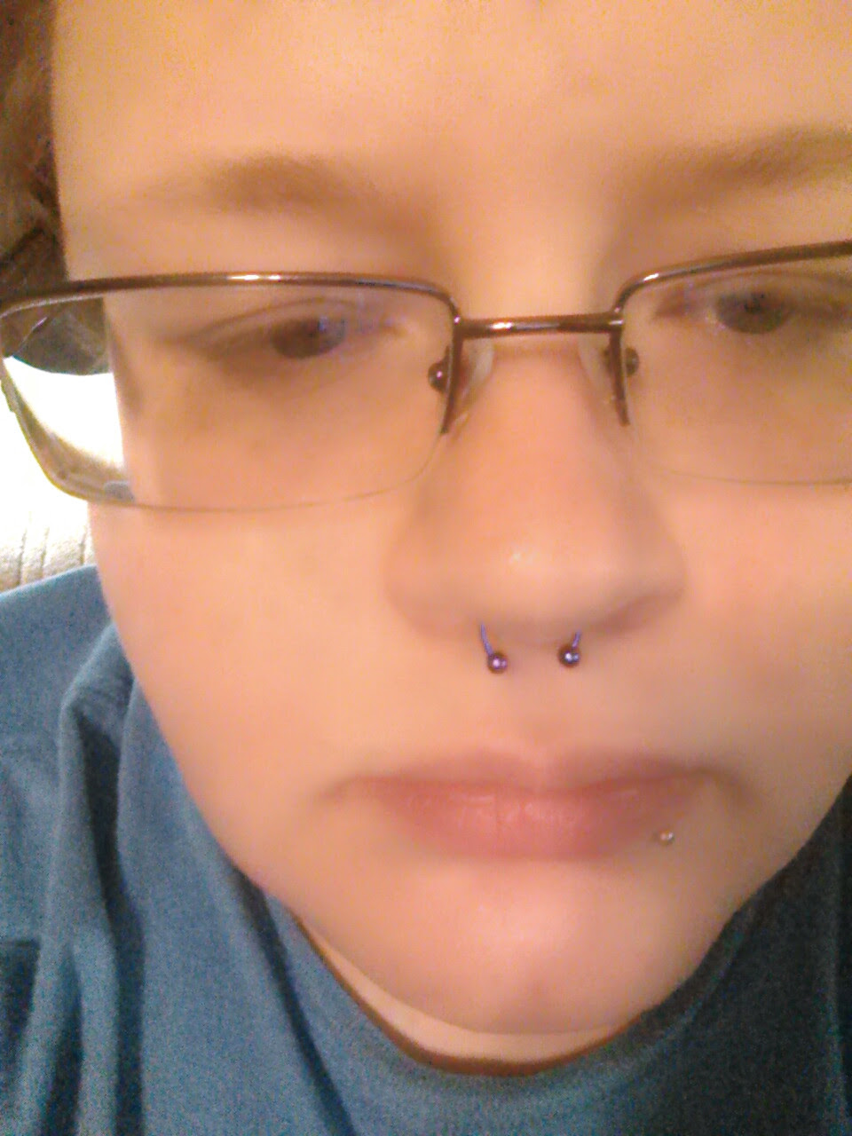 I Got My Septum Pierced Today And Its A Bit Crooked Piercer Said