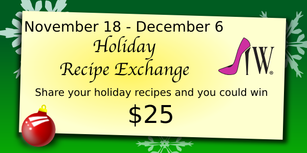 recipeexchange christmas good Tis The Season...For Sharing Recipes And A Little Cash Giveaway!