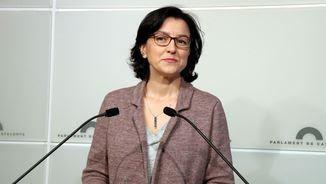 Eva Granados, aquest matí, en una compareixença informativa (ACN)