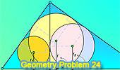 Problema 24: Triángulo rectangulo, Altura, Suma de Inradios.