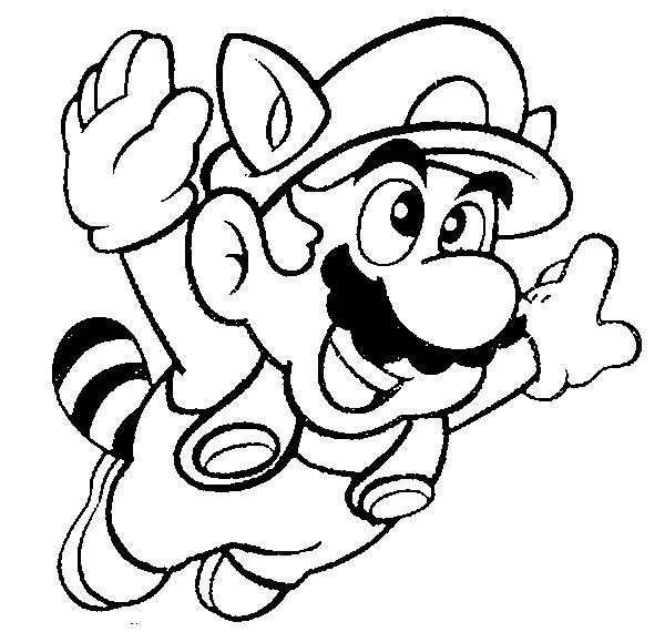 Disegno Da Colorare Super Mario 3