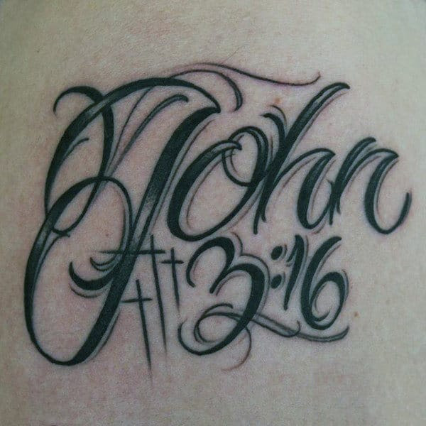 30 John 3 16 Tattoo Designs For Men Religious Ink Ideas
