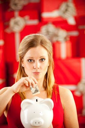 Manage Holiday Shopping Debt - woman saving