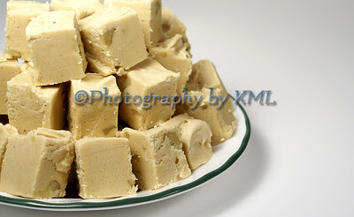 peanut butter fudge on a plate