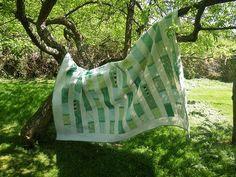 Green stripes #quilt