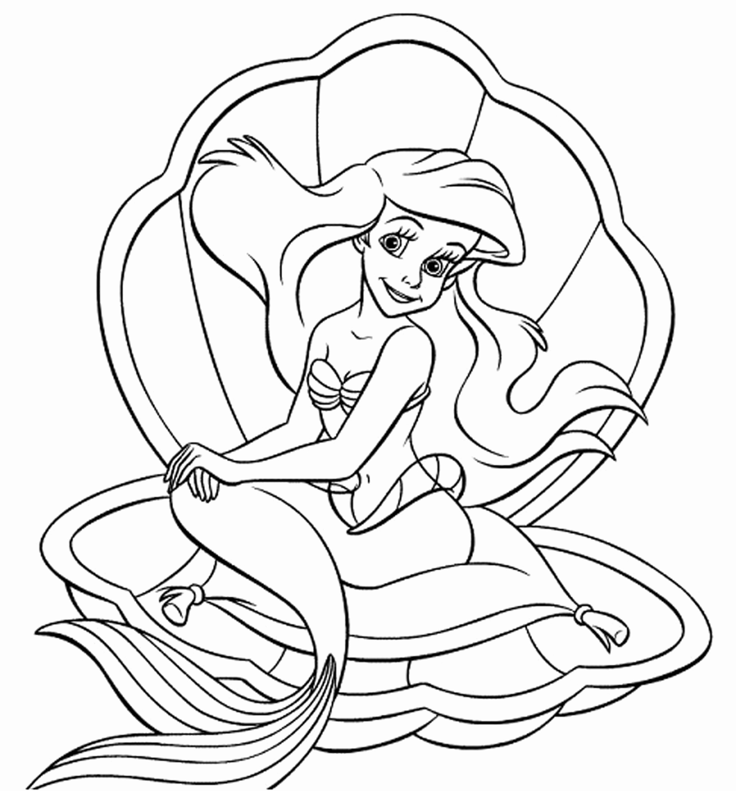 Baby Ariel Coloring Pages At Getdrawingscom Free For Personal Use