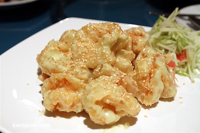 Deep fried Prawns with Wasabi-mayo Sauce