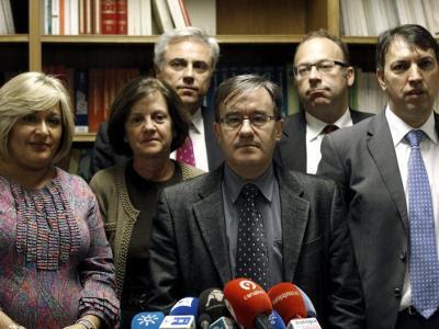 Los portavoces de las asociaciones y fiscales que han acordado medidas de presión contra el Gobierno/EFE