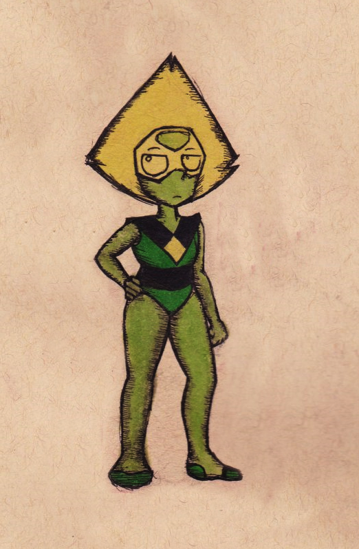 oooold doodle of peridot from steven universe (she is my fav) 👽