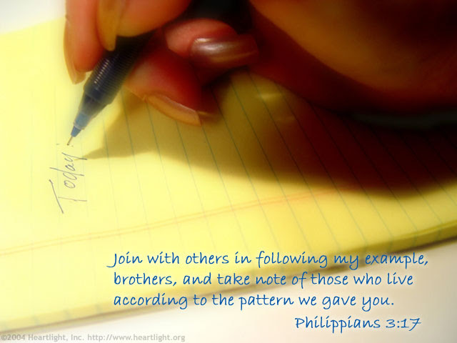 Inspirational illustration of Philippians 3:17