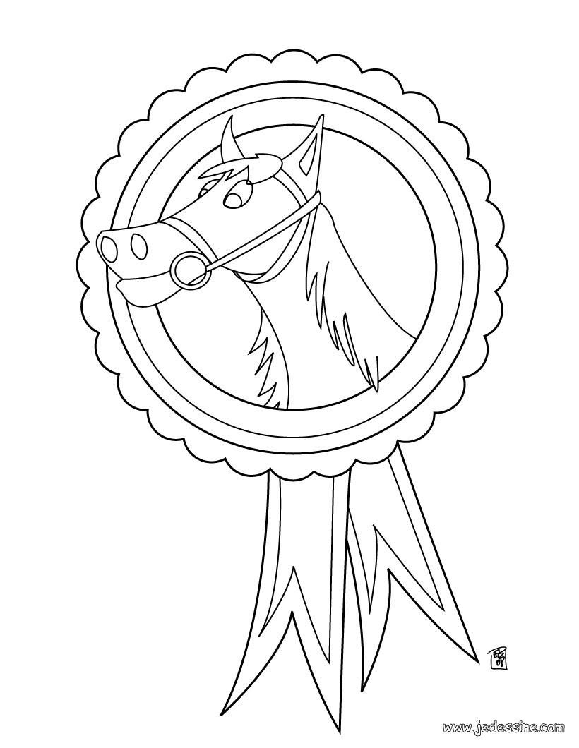 coloriage medaille de petition d equitation 4zy