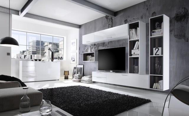 Modern Wall Unit TV Media Entertainment Center Club Composition 4 ...