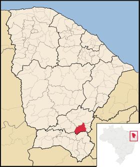 Localização de Lavras da Mangabeira
