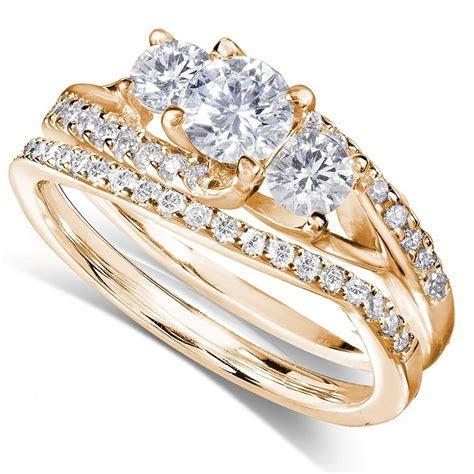 GIA Certified 1 Carat Trilogy Round Diamond Wedding Ring