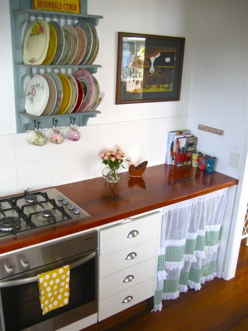 beach vintage eclectic kitchen