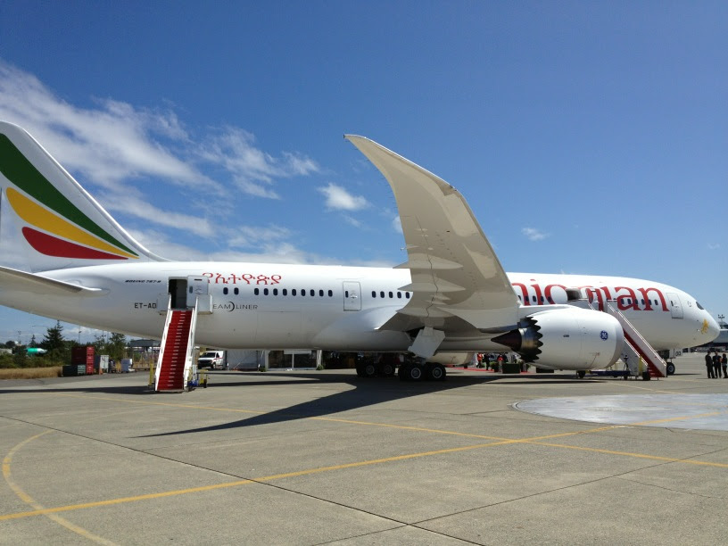 """Ethiopian's first 787 """"Africa First"""""""