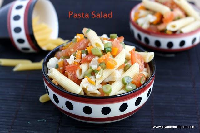 pasta salad recipe jeyashris kitchen - Jeyashris Kitchen