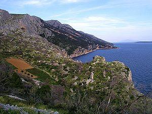 The southern coast of Hvar, west of Sveta Nedj...