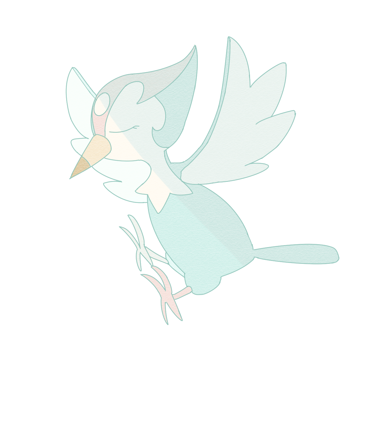 (png! please click!) drew a pikipearl during the stream in an attempt to escape my current artblock