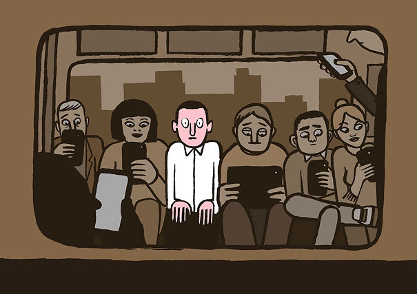 AD-Satirical-Illustrations-Show-Our-Addiction-To-Technology-11