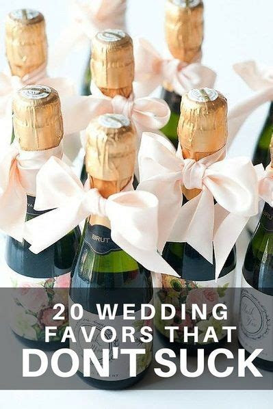 20 Wedding Favors Your Guests Won't Hate!   Wedding