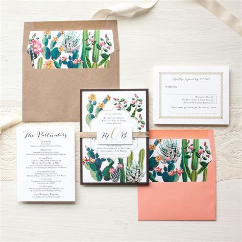 Desert Love Wedding Invitations Cactus Wedding   Beacon Lane