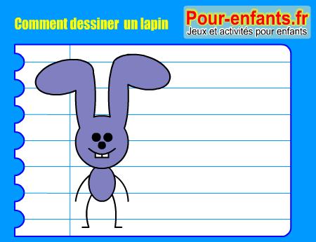 Pour enfants 2017 apprendre dessiner un lapin comment dessiner un lapin facilement - Comment dessiner un diable facilement ...