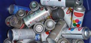 Aerosol cans can be regulated as a hazardous waste unless emptied completely