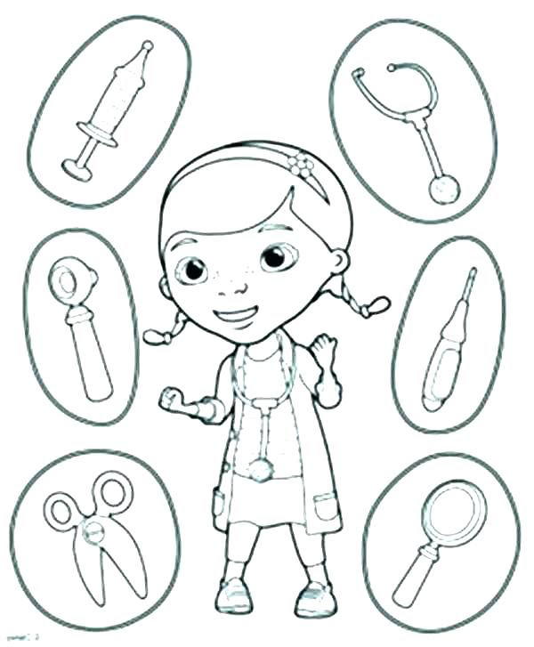 Doctor Coloring Pages Carinewbi