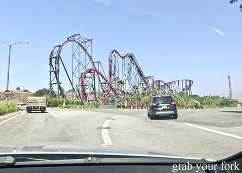 x2 roller coaster at magic mountain six flags in valencia los angeles
