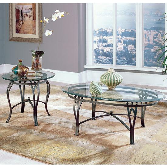 Steve Silver Madrid Oval Glass Top Coffee Table | Hayneedle