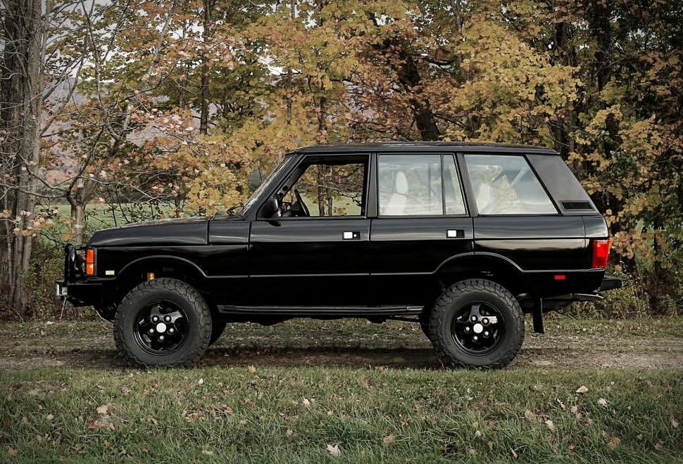 1995 black range rover classic swb o