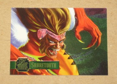 Flair '95 Marvel Annual (Fleer 1995) PowerBlast Card #9 Sabretooth EX