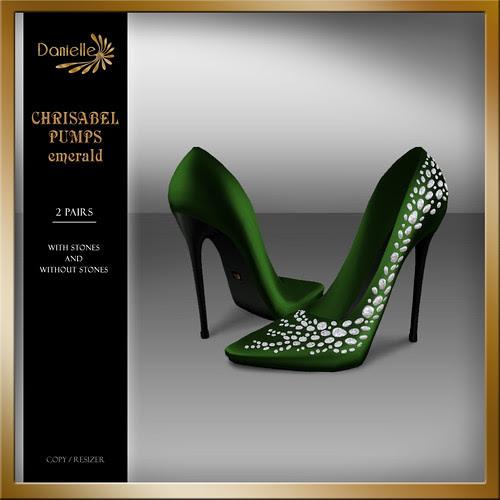 DANIELLE Christabel Pumps Emerald