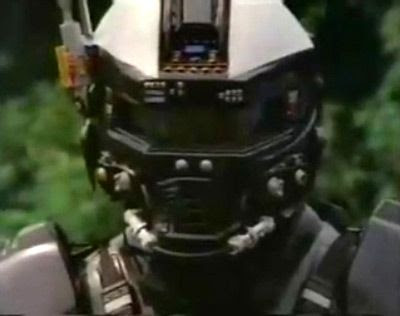 The awesome HALO/STAR WARS-y helmet of SUPER FORCE.